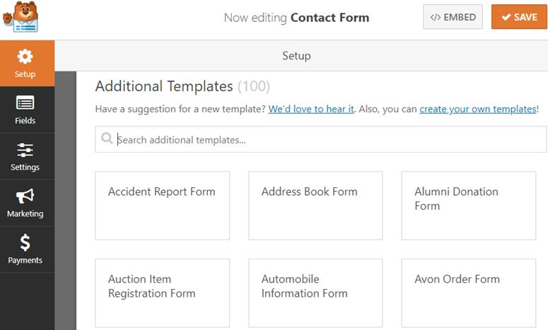WPForms configuración de formularios Rankerstudio